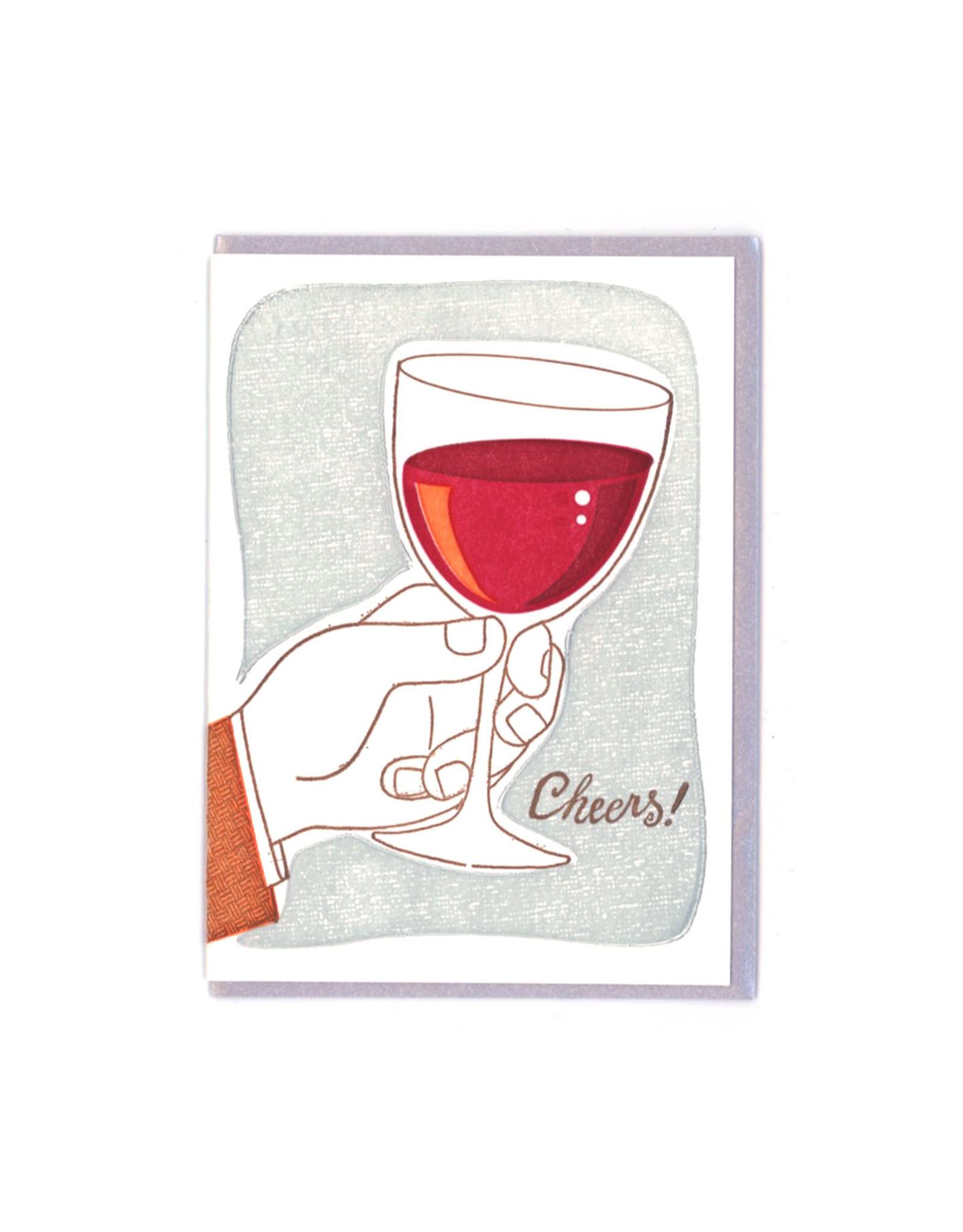 Cheers! (Wine) Greeting Card