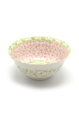 Pink and Green Flower Bowl
