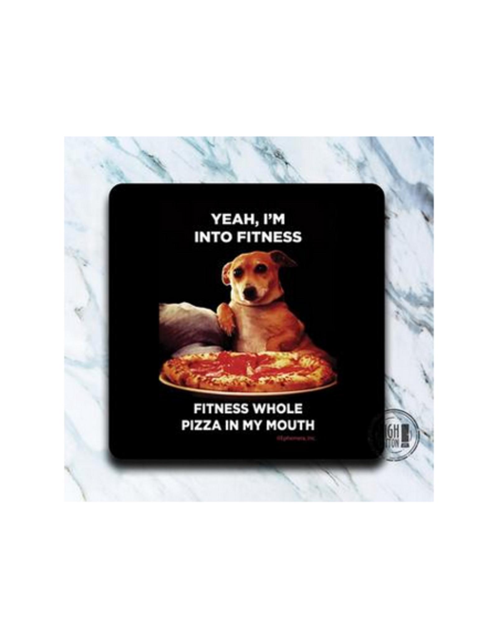 Fitness Pizza Dog Coaster