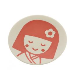 Kokeshi Girl Plate
