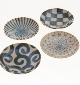 Antique Gosu/Shiro Plate Set of 4