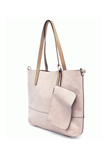 Brushed 2 in 1 Tote :  Barely Pink