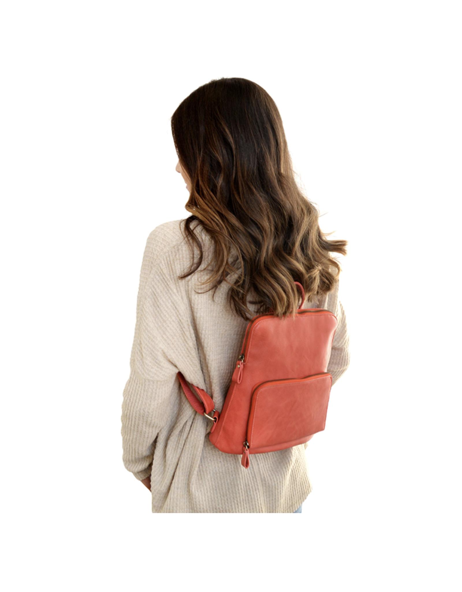 Julia Mini Backpack :  Coral