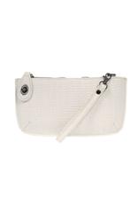 Woven Crossbody Wristlet : White