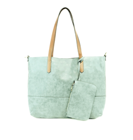 Brushed 2 in 1 Tote :  Sky