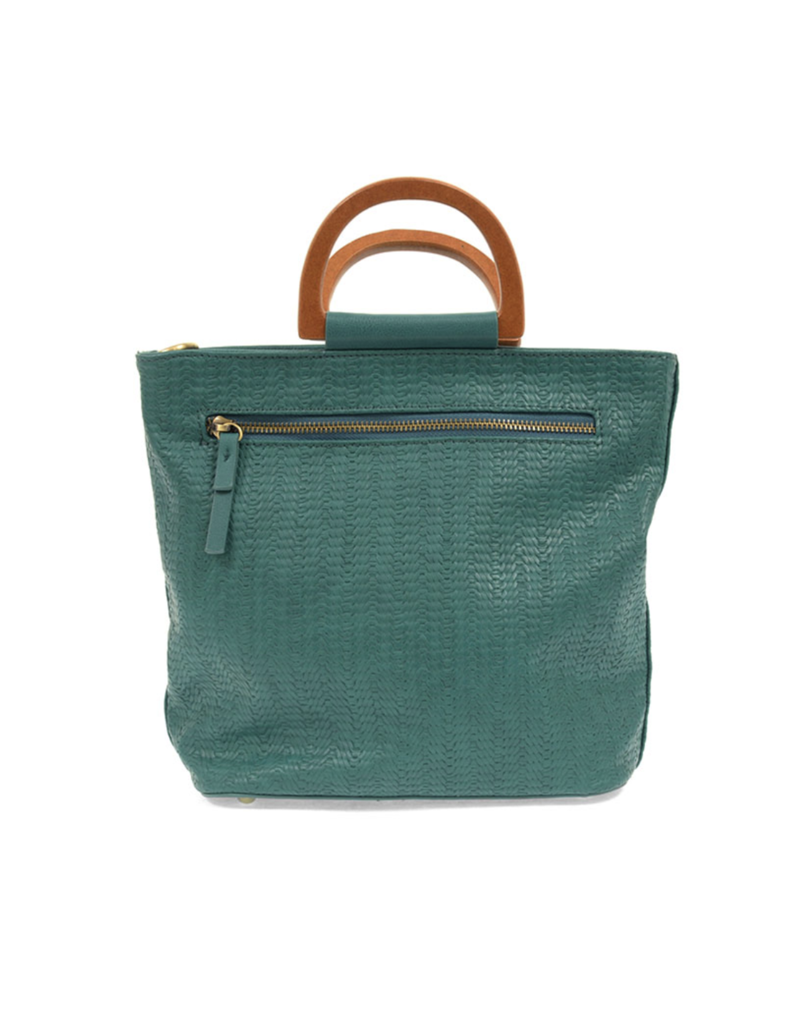 Lily Woven Wooden Handle Tote : Turquoise