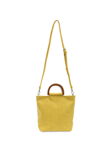 Lily Woven Wooden Handle Tote : Straw