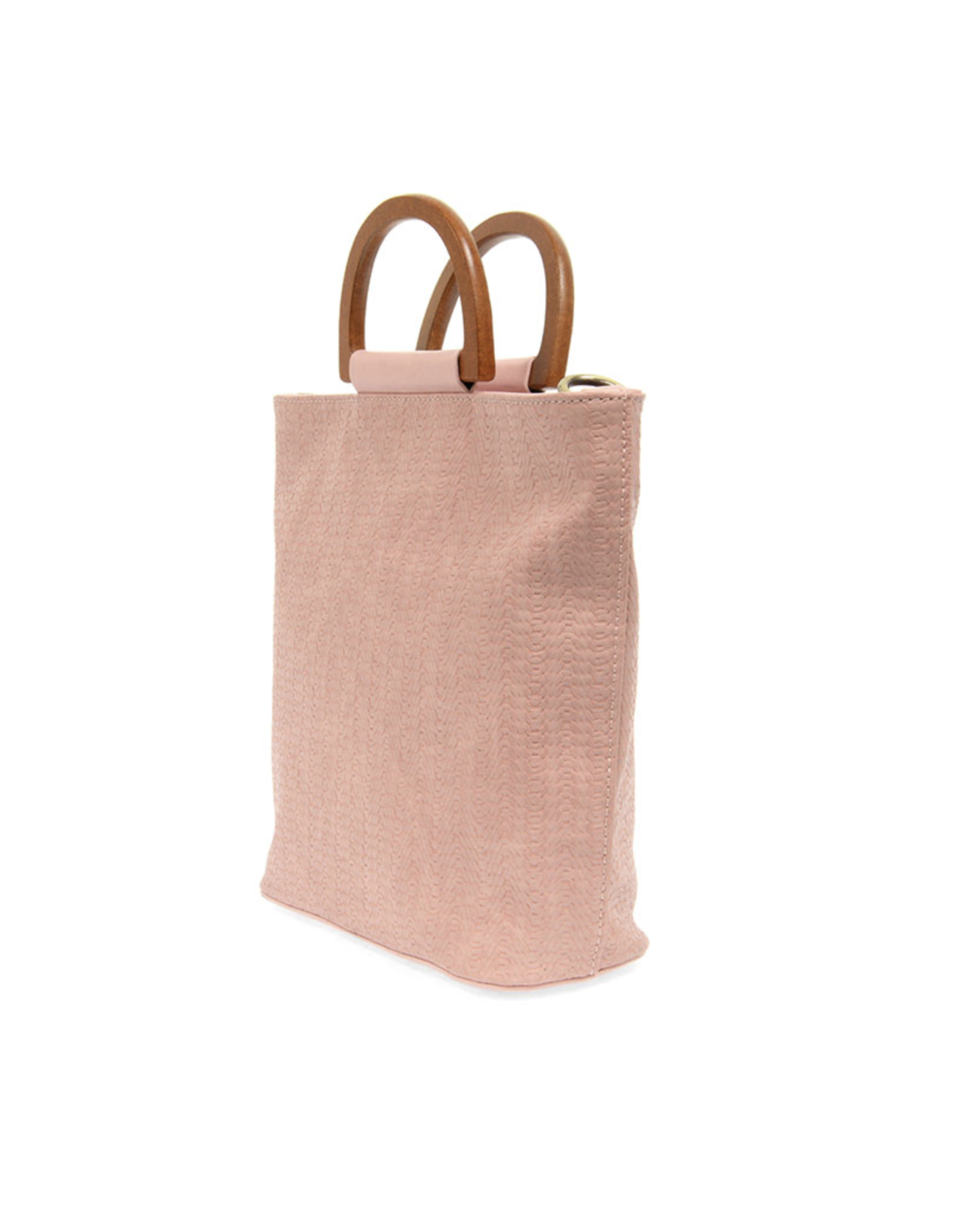 Lily Woven Wooden Handle Tote : Pink