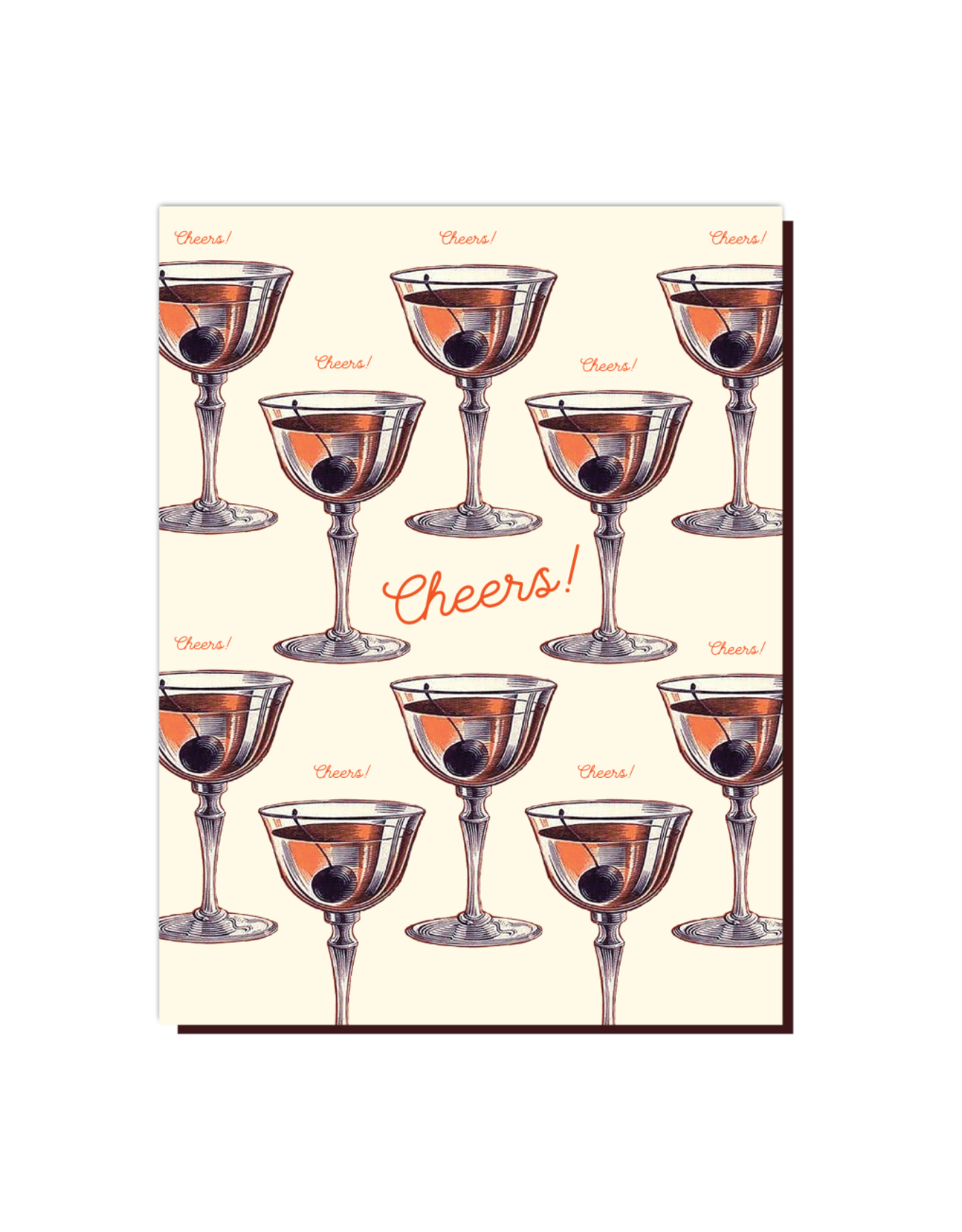 Cheers Manhattan Greeting Card