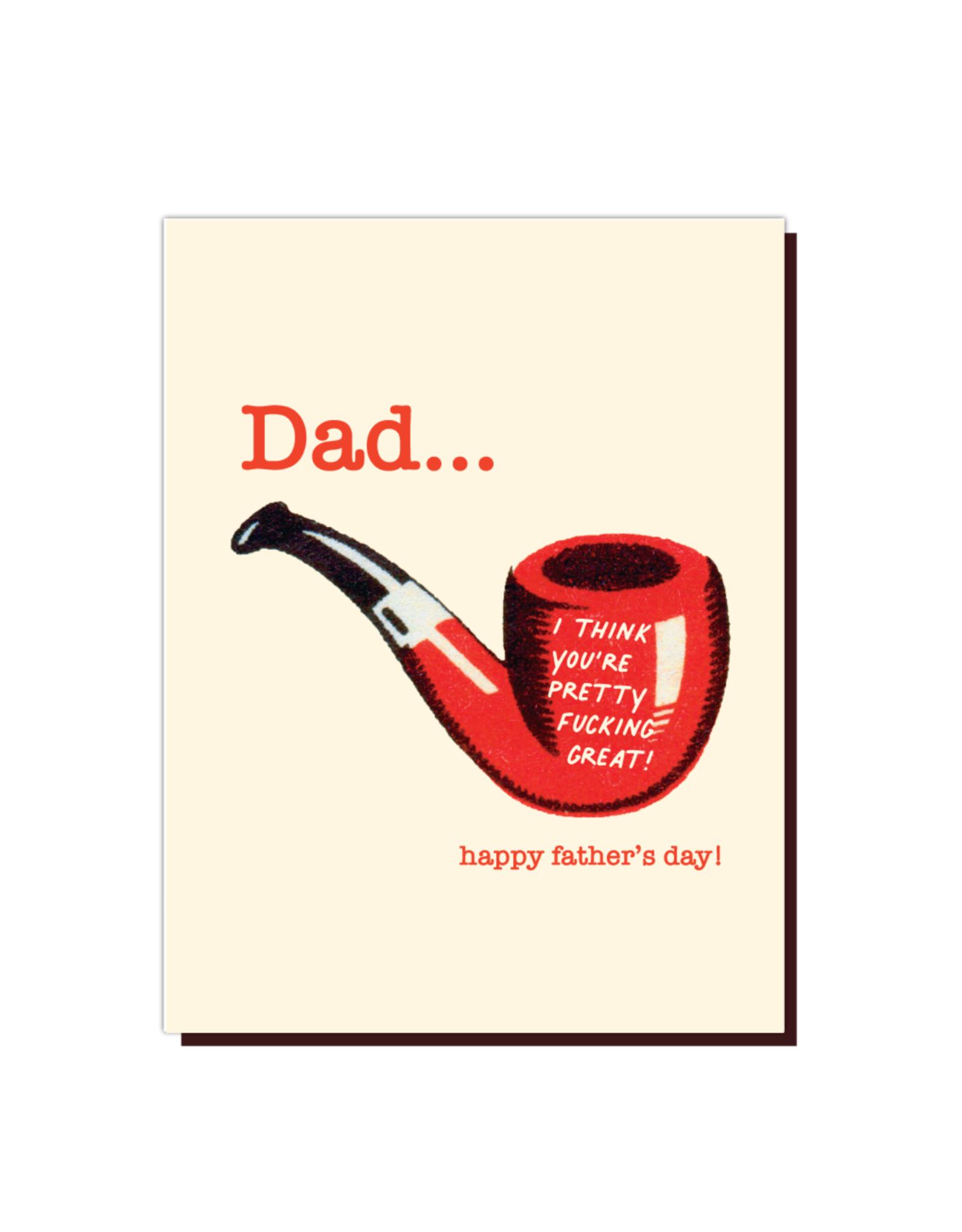 Dad Pipe Greeting Card