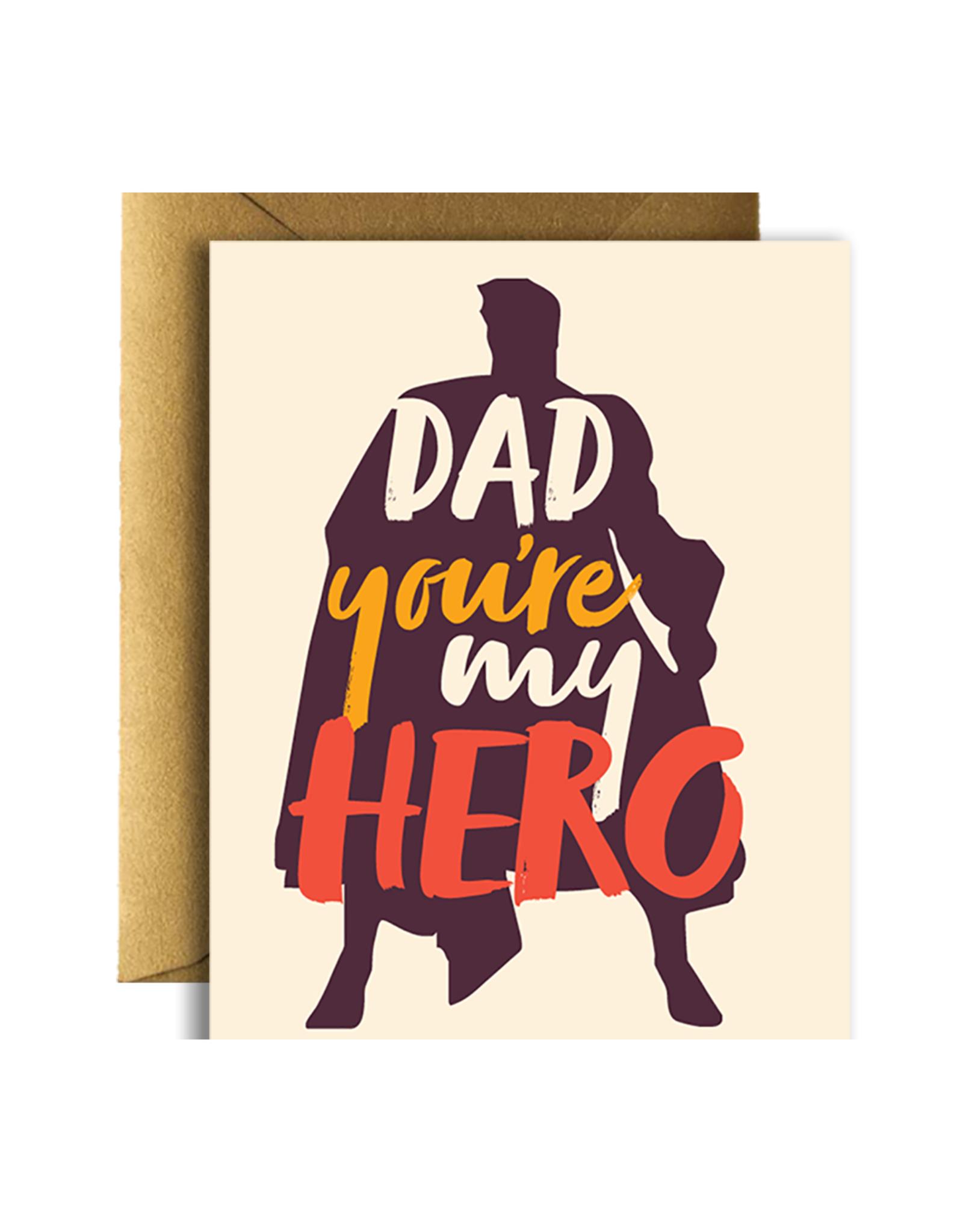 Dad You're My Hero Greeting Card