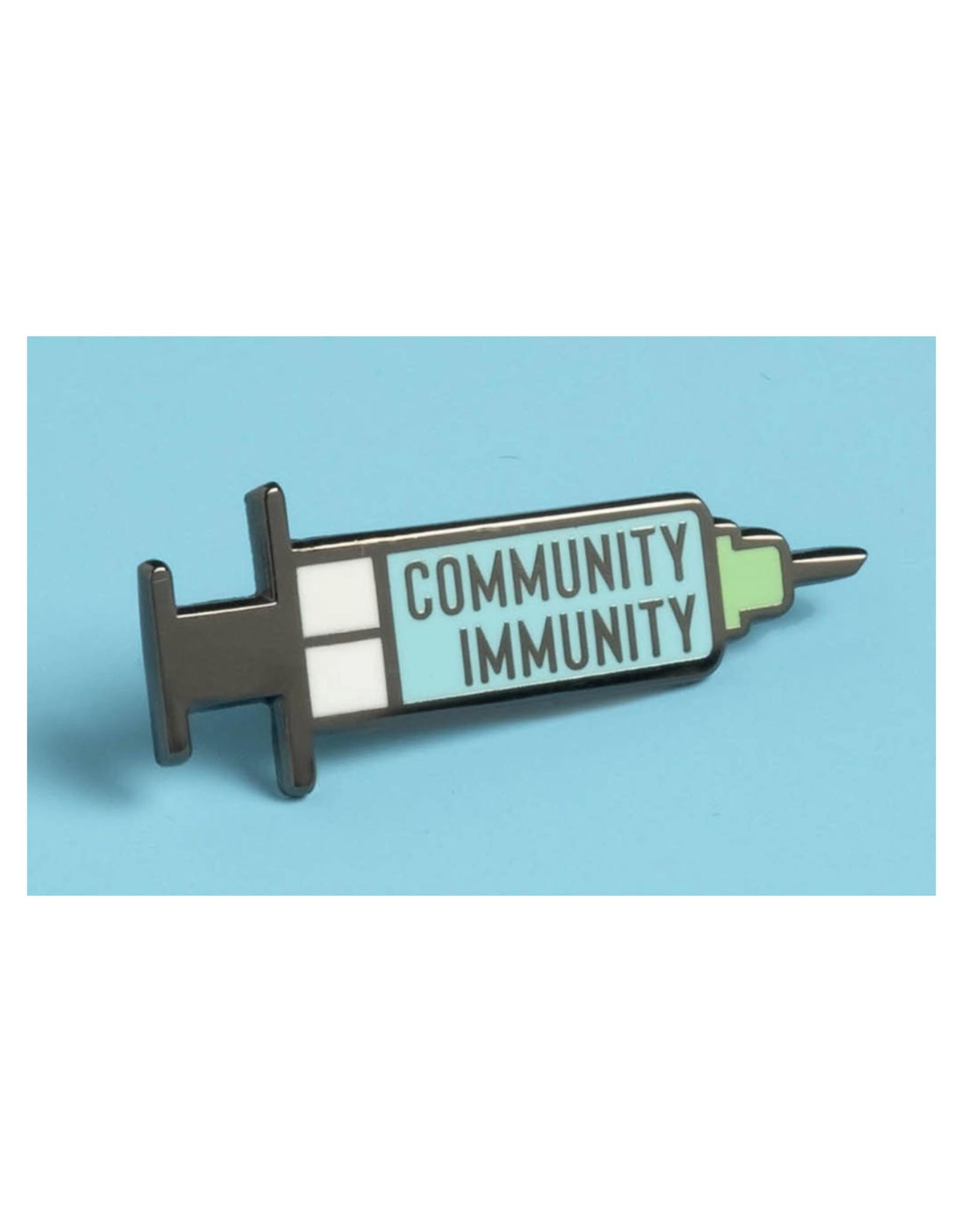 Community Immunity Vaccination Pin