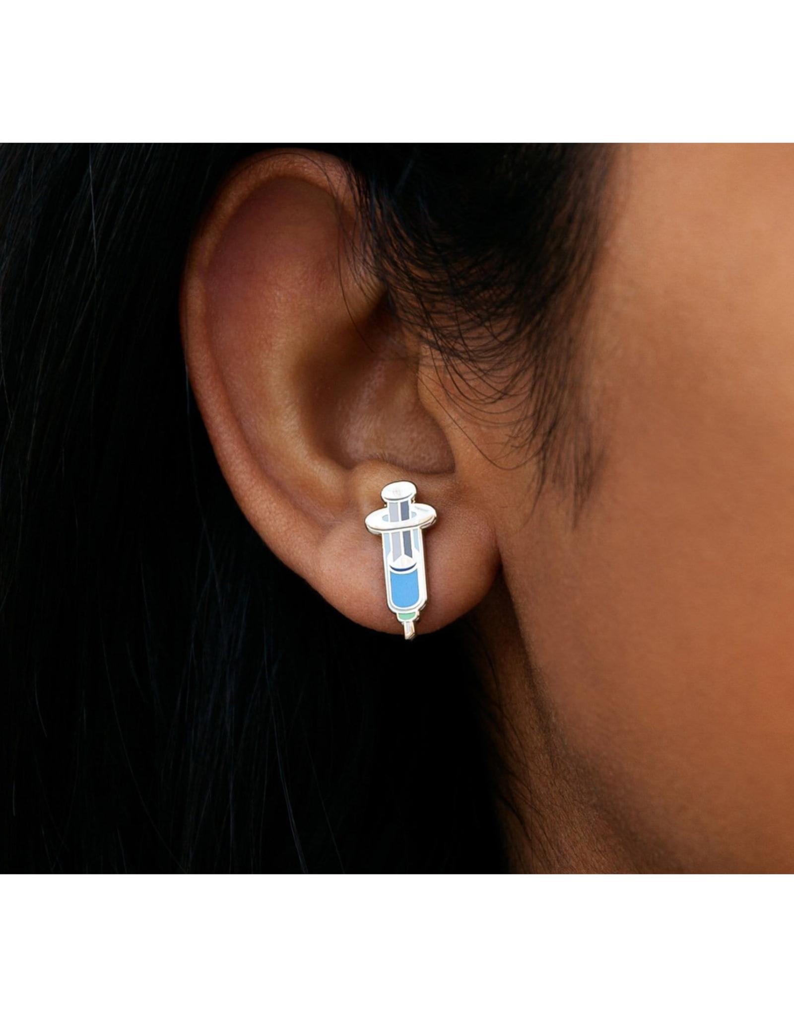 Vaccine Syringe Post Earrings