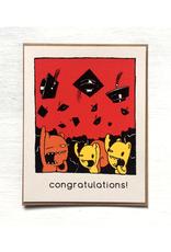 Hats Off Graduation Greeting Card