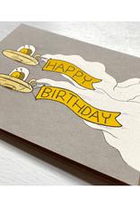 Snail Spaceship Birthday Greeting Card