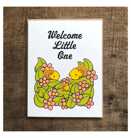 Welcome Little One Hedgehog Greeting Card