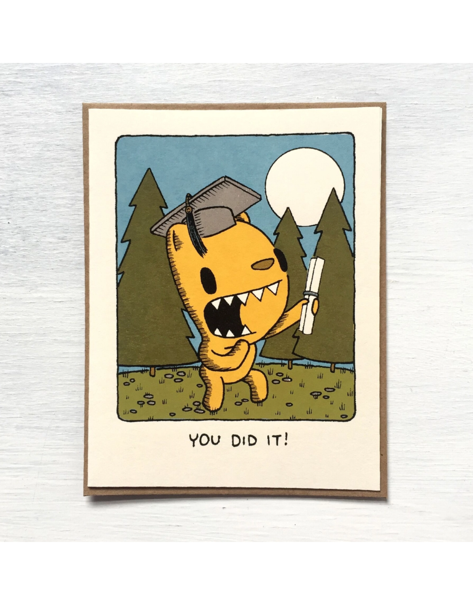 You Did It Graduation Monster Greeting Card