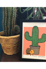 Plant Friend & Hedgehog Print