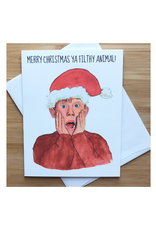 Filthy Animal Christmas (Home Alone) Greeting Card