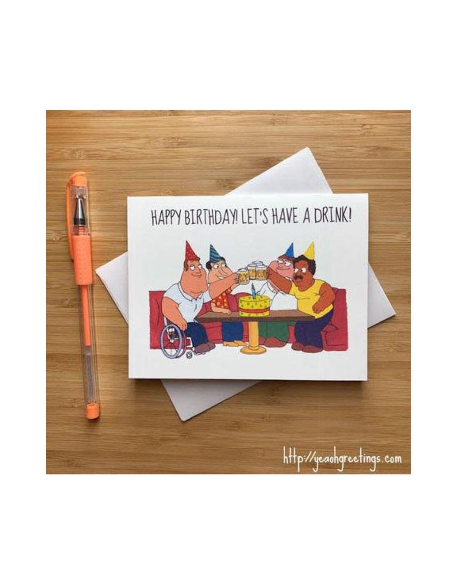Family Guy Birthday Greeting Card