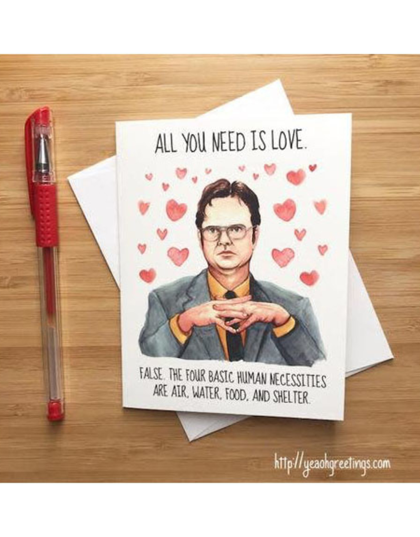 Dwight Schrute Love (The Office) Greeting Card