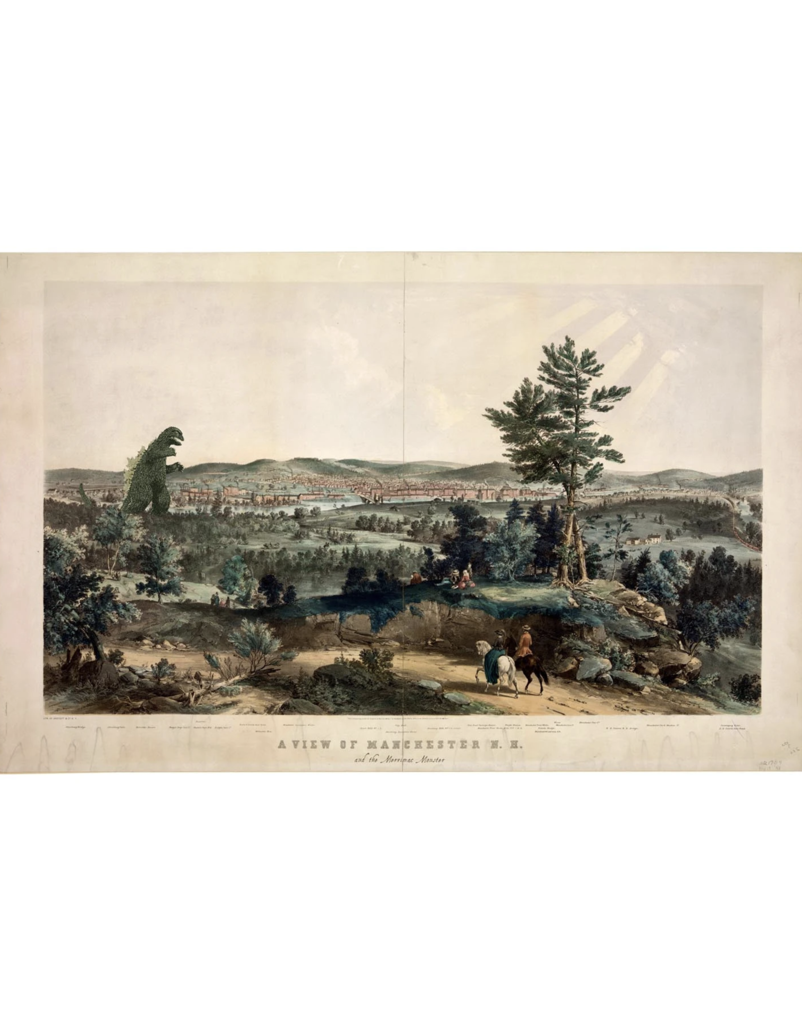The Merrimac Monster of Manchester NH Print