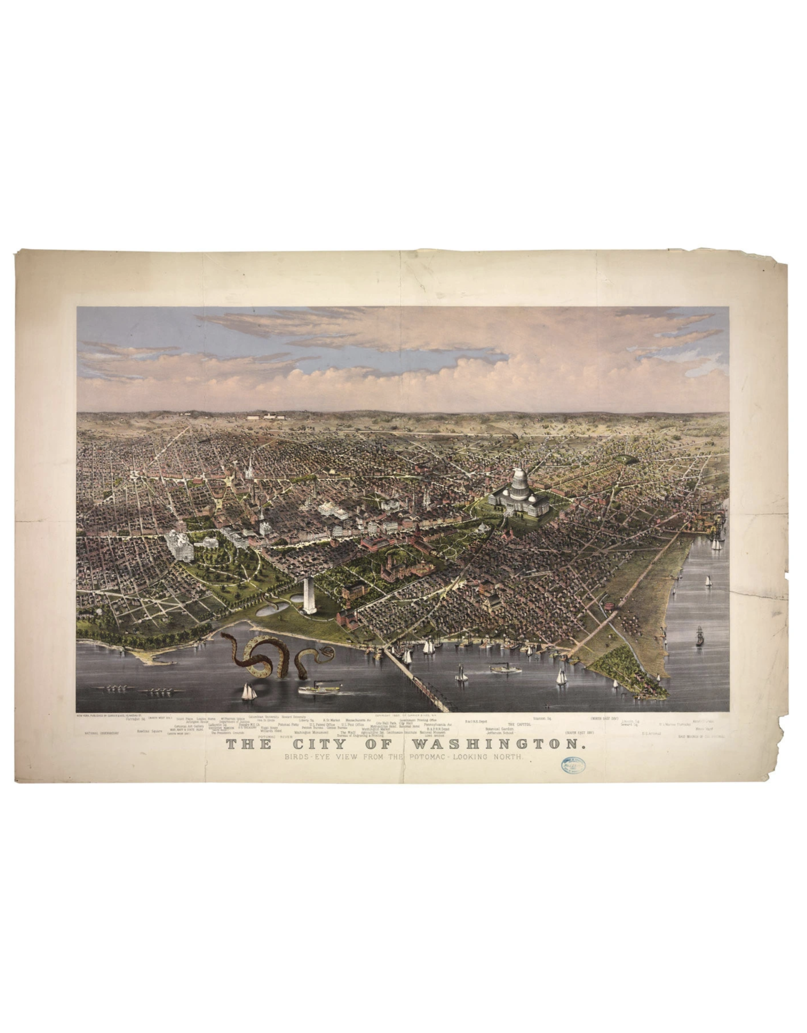 Map of Washington DC Print