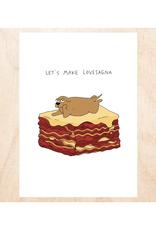 Let's Make Lovesagna Greeting Card