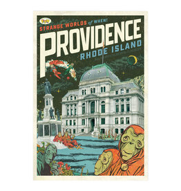 Strange Worlds of When! Postcard - City Hall