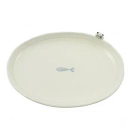 Cat & Fish Oblong Plate