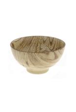 Zebrano Faux Wood Rice Bowl