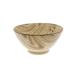 Zebrano Faux Wood Bowl - Large