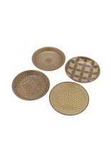 Kyo Modern Sepia Plate Set of 4