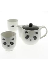White Panda Sake Set of 2
