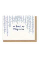 Heavy Hearts (Light Blue) Greeting Card