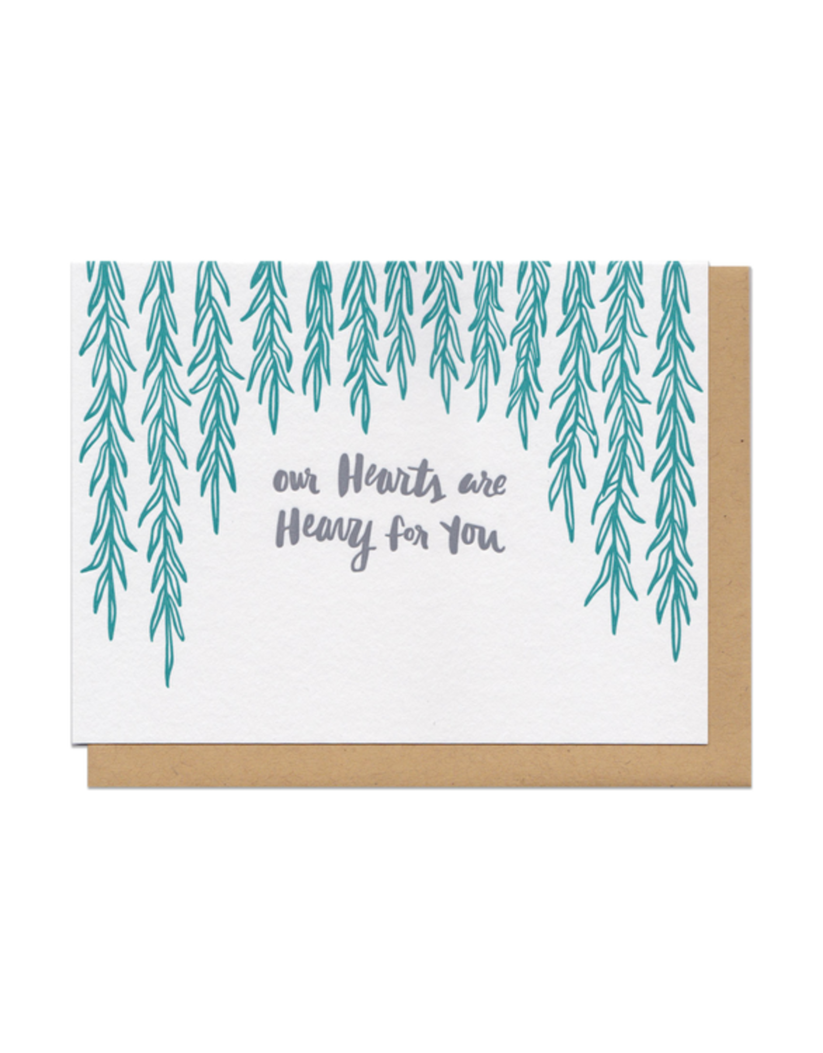 Heavy Hearts (Teal) Greeting Card