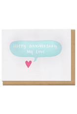 Happy Anniversary, My Love (light blue) Greeting Card