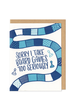 Sorry I Take Board Games Too Seriously (Blues) Greeting Card