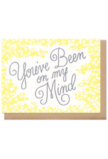 You've Been On My Mind (yellow) Greeting Card