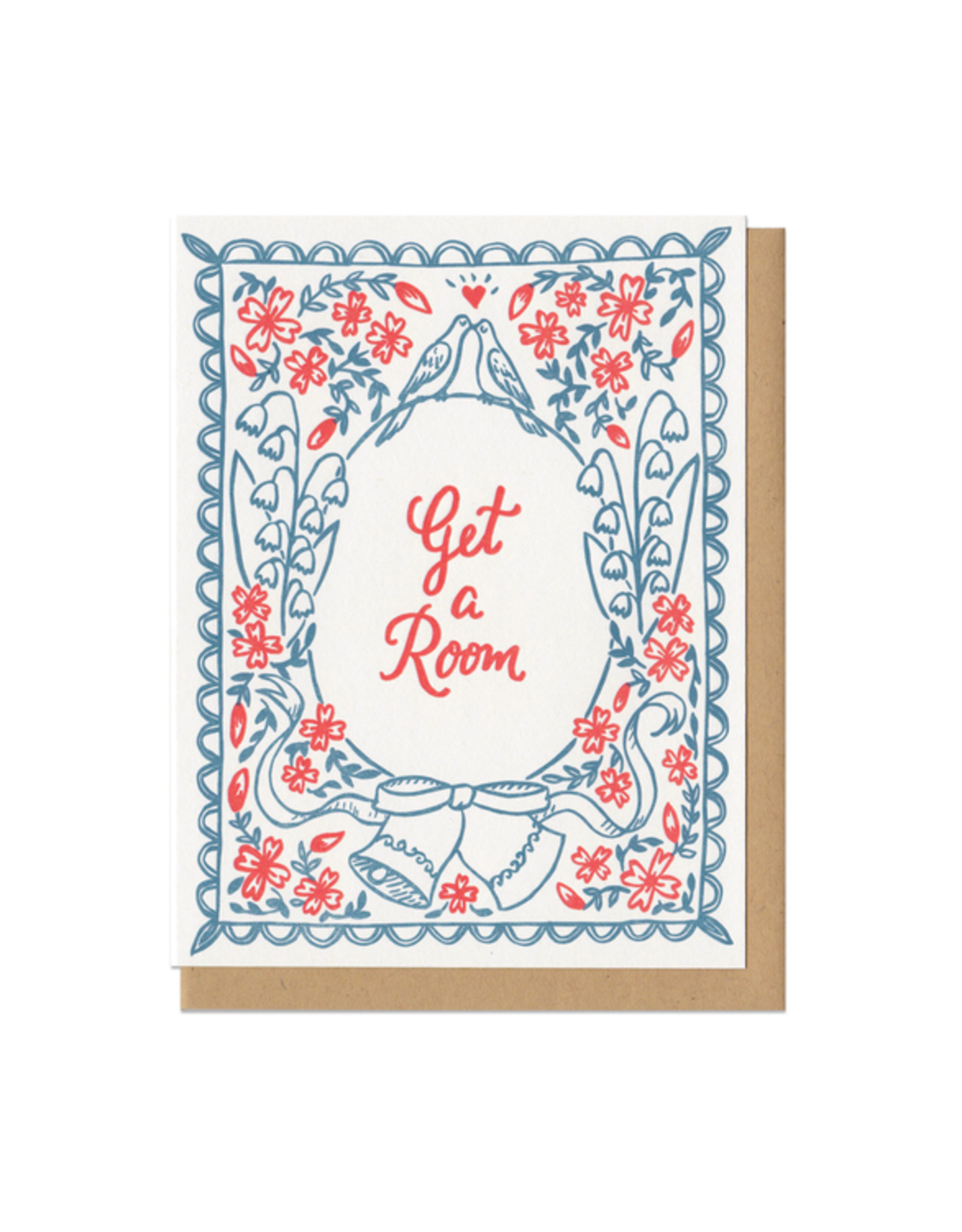 Get a Room (blue) Greeting Card