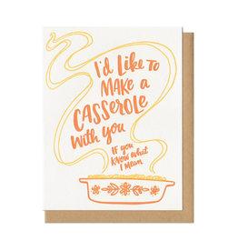 I'd Like To Make A Casserole...(Orange) Greeting Card