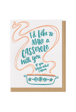 I'd Like to Make a Casserole...(Teal) Greeting Card