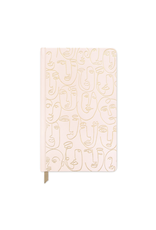 Faces Cloth Journal - Pink