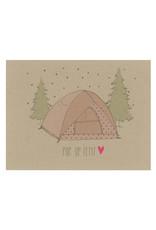 Pop Up Tent  Camp Postcard