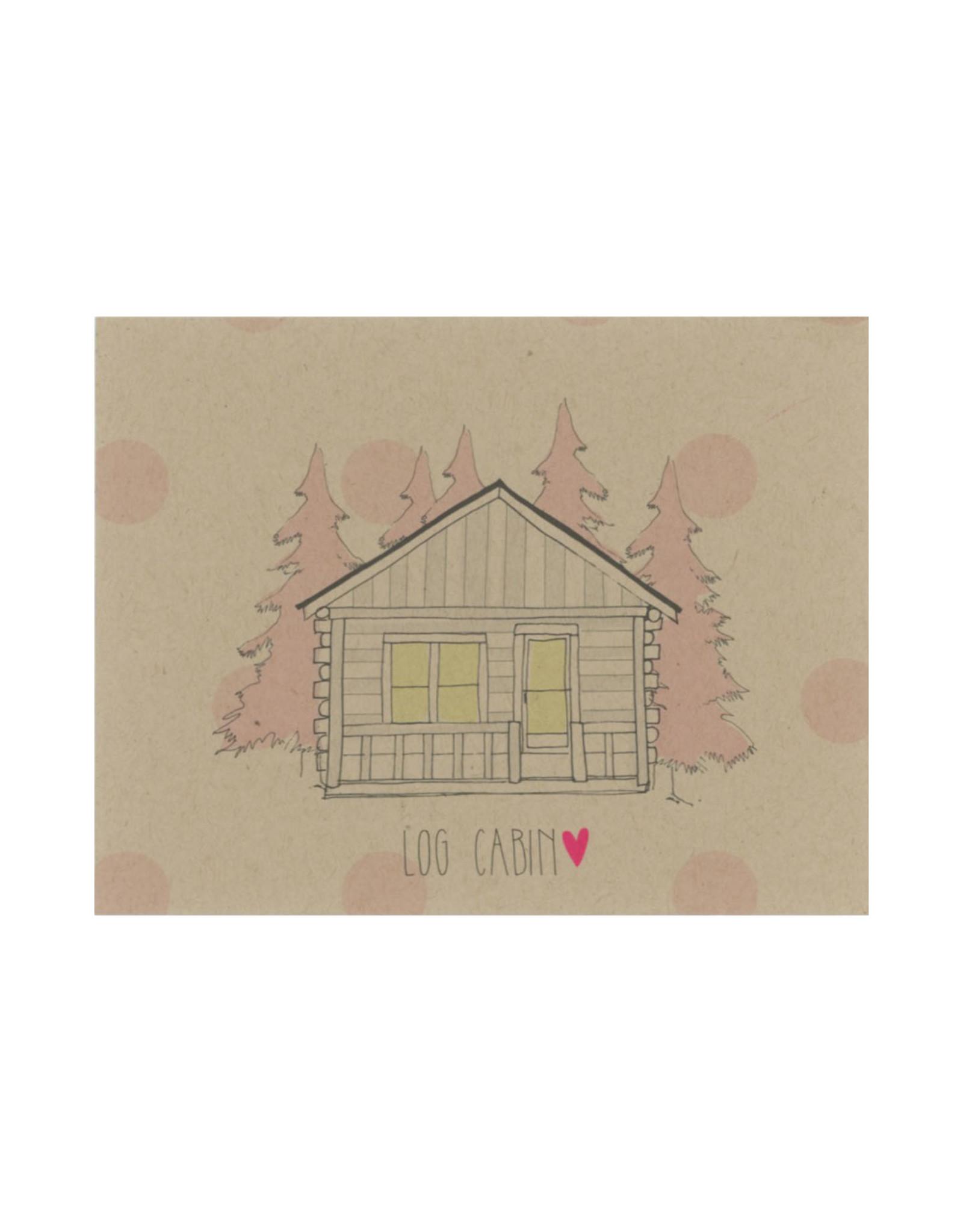 Log Cabin Camp Postcard