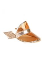 Metallic Rose Gold Wings Visor
