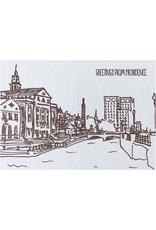 Greetings from Providence Albertine Press Postcard