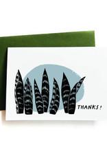 Thanks (Snake Plant) Greeting Card