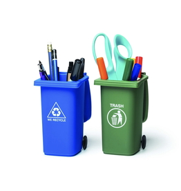 Mini Trash Can and Recycle Can Desk Set