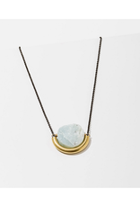 Sun and Moon Necklace - Opalite